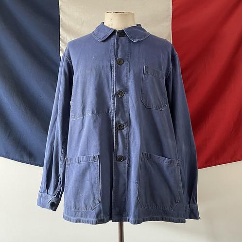 True Vintage 1950s French Workwear Jacket L