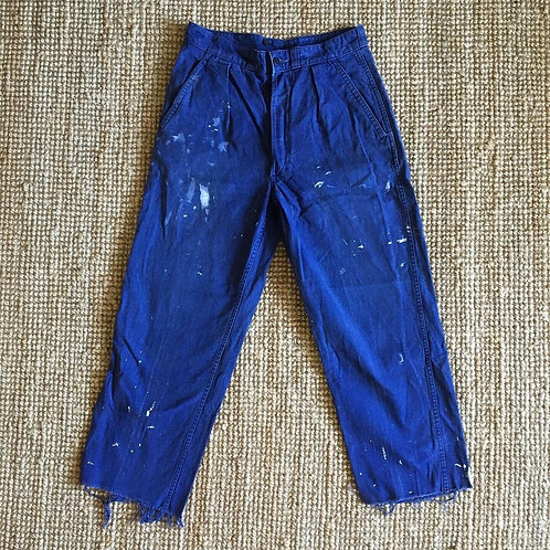Vintage 1960s French Paint Splattered Sanforised Workwear W31""