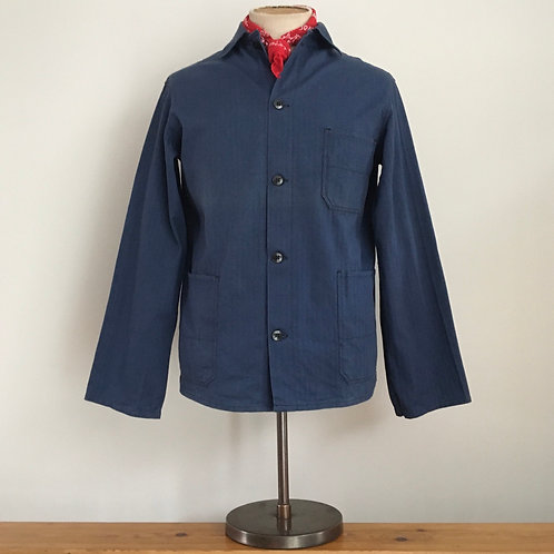 Vintage German Herringbone Cotton Workwear Jacket S