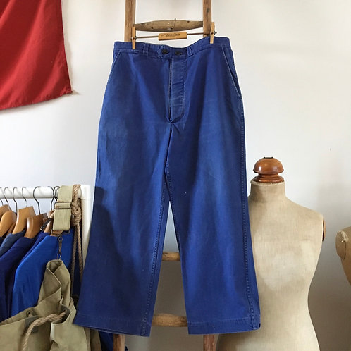 """True Vintage French Barbe Bleue Workwear Trousers W34"""""""