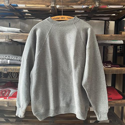 True Vintage 1990s Hanes USA Grey Marl Blank Sweatshirt M- L/L