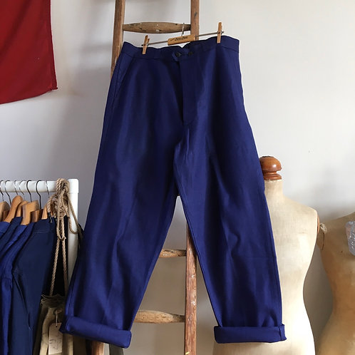 "True Vintage 1960s French Workwear Trousers W36"""