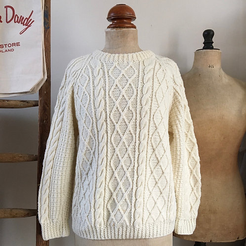 True Vintage Cable Hand Knit Sweater M