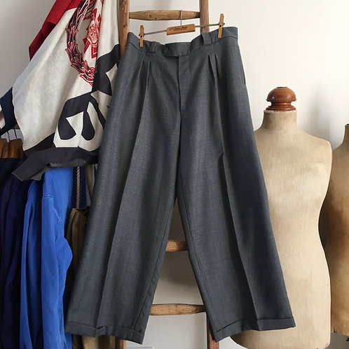 Vintage 1930s/40s Style Wide- Legged Trousers W34""
