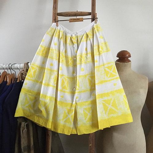"True Vintage 1950s Waffle Cotton Skirt W29"" UK10-12"