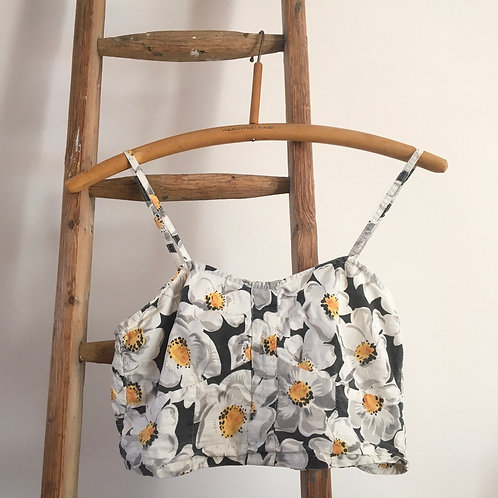Vintage 1950s/60s Style Cotton Crop Top UK10