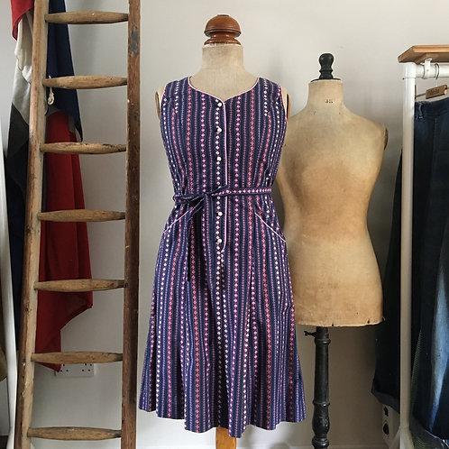True Vintage 1960s Cotton Dress UK8 XS/S