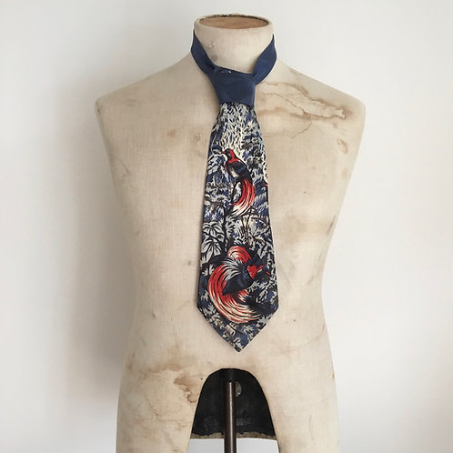 True Vintage 1940s/50s 'Bird of Paradise' by Merle Neck Tie