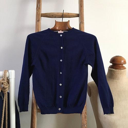 True Vintage French 1960s Wool Cardigan UK6 8 10