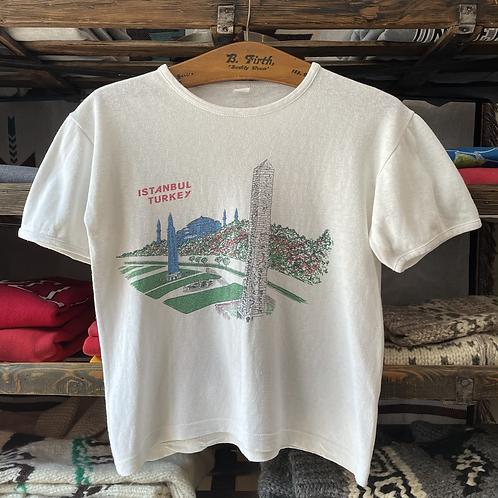 True Vintage 1970s/80s Istanbul Tourist Souvenir Tee- Shirt S