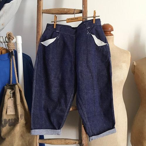 "True Vintage 1950s Telsada USA Clam Diggers Jeans W28"""