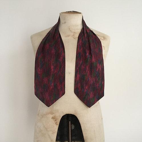True Vintage 1950s Pure Silk Painterly Design Cravat