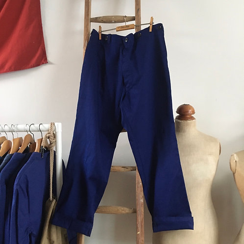 """Vintage Chinese 'Friendship Brand' Cotton Workwear Trousers W38"""""""