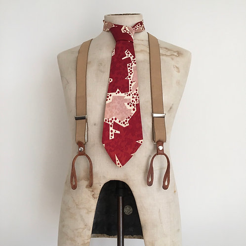 True Vintage 1940s/50s Bold Design Neck Tie