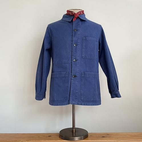 True Vintage 1950s  French Usifor Bleu de Travail Workwear Jacket M