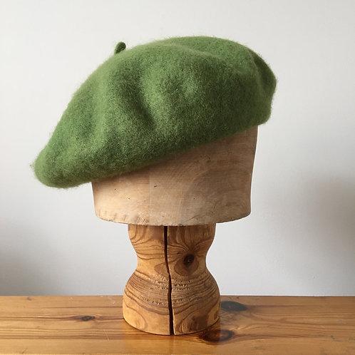 Woolmark 100% Wool Beret Hat / Fern