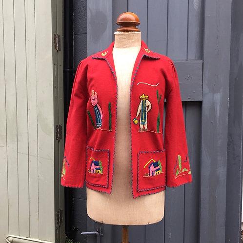 True Vintage 1940s Mexican Tourist Jacket S