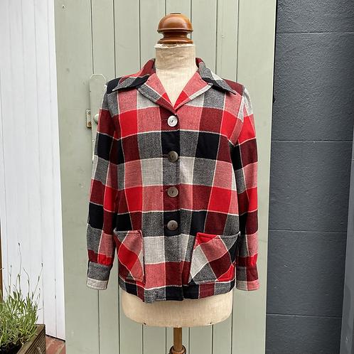 True Vintage 1950s USA Pendleton 49er Check Wool Jacket M- L