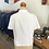 Thumbnail: True Vintage 1950s/60s Embroidered Cotton Blouse UK14 16 L