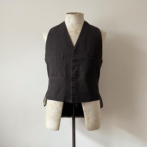 """Vintage Cinch Back Brown Waistcoat S- M 38"""""""