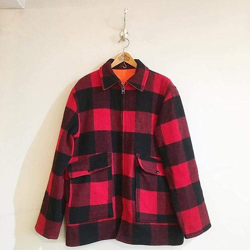 Vintage USA Woolrich Mackinaw Reversible Check Coat
