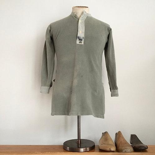Vintage Swedish Military Henley Shirt S