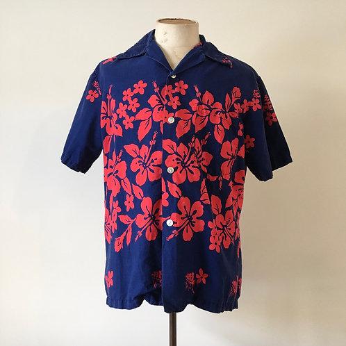 True Vintage 1960s Ui Maikai Hawaiian Cotton Shirt L