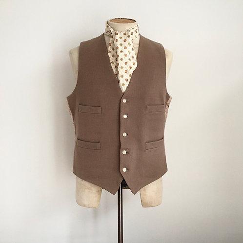 """True Vintage 1950s/60s Cinch Back Wool Waistcoat 42"""""""