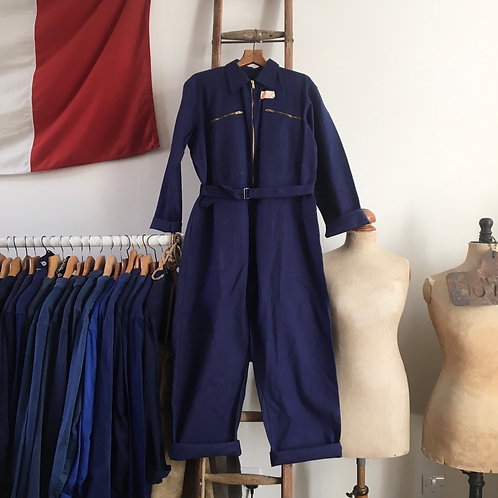 True Vintage 1950s French Deadstock Workwear Coveralls M- L/ L