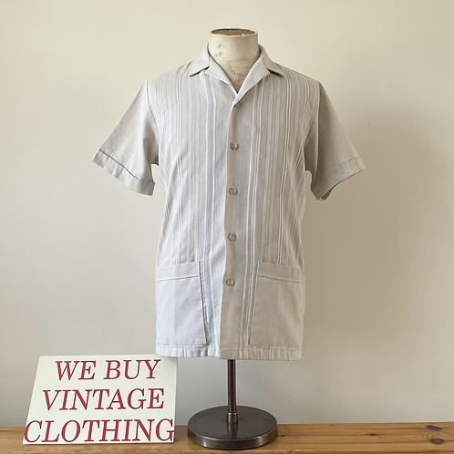 """True Vintage Guayabera Style St. Michael Shirt S- M 38"""" 40"""""""