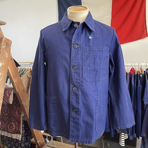 Vintage German Sanfor Herringbone Cotton Workwear Jacket M