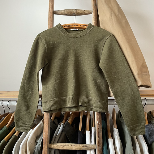 True Vintage 1960s Military Wool Knit Sweater XS/S