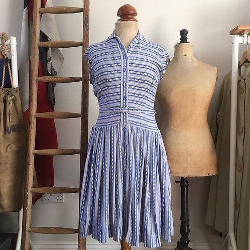 """True Vintage 1940s/50s St.Michael Cotton Dress UK10 W29"""""""