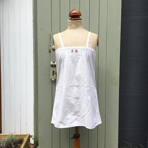 Antique Vintage French Linen Monogrammed Camisole S