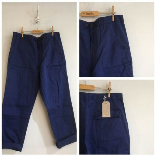 """Vintage Navy Heavy Cotton Chore Trousers W37"""""""