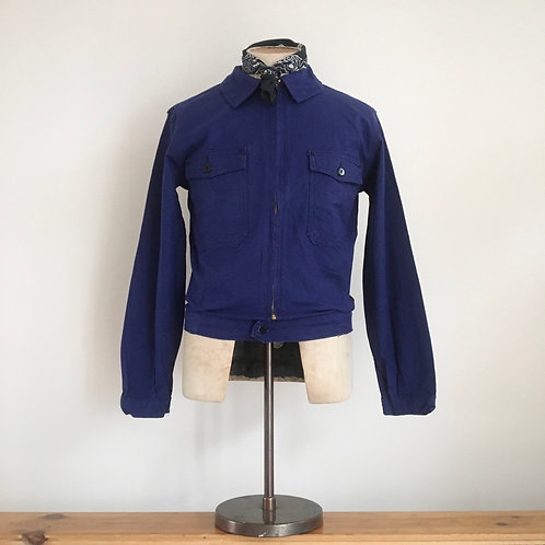 Vintage 1960s French Cyclist Workwear Jacket XS/S