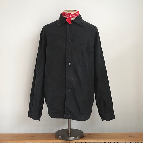 Vintage Chinese/ Vietnamese Black Cotton Workwear Chore Jacket XL