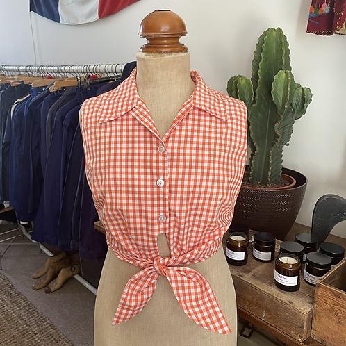 Vintage 1950s/60s Style Handmade Gingham Shirt UK10 12