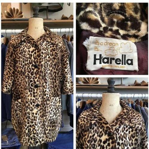 True Vintage 1960s Harella Leopard Print Cape UK10 12 14