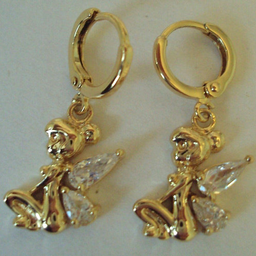 9ct Gold Plated Fairy Wish Pierced Earrings