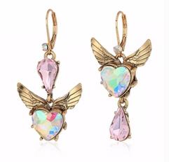 Heart Winged Earrings