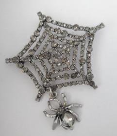 Spider Web Brooch