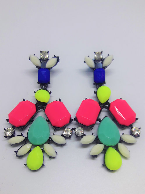 Carnival Colour Drop Pierced Earrings