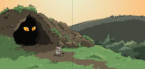 איור מתוך הספר - העכבר שרצה להיות אריה