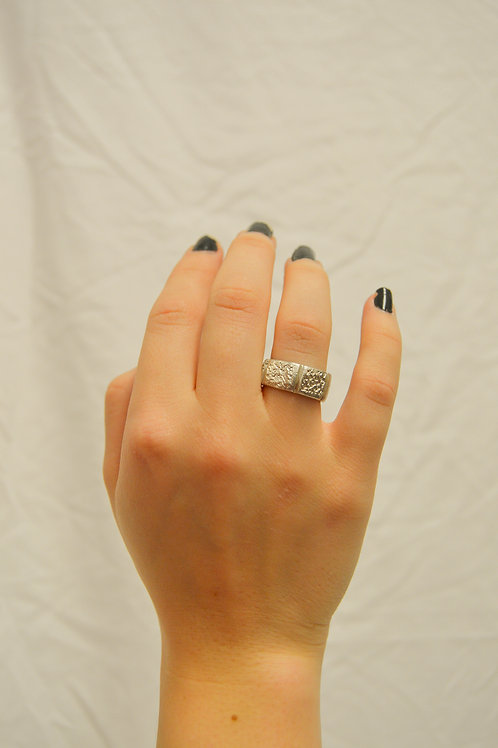 Heavy silver Band Ring