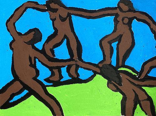Matisse's Dance with Brown Figures