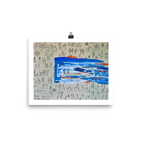 Pool Party PRINT, Lily Formato
