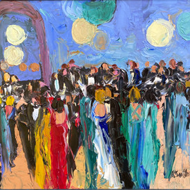 Party Crowd 20x24