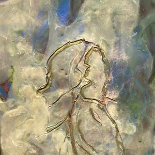 Iris  Encaustic 5x7