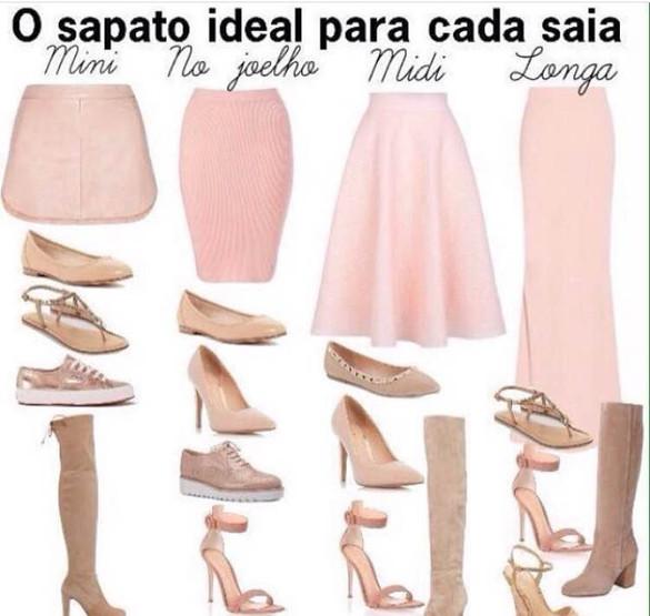 Cada saia pede um sapato.